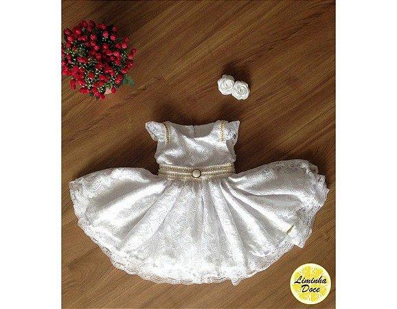 Vestido de Batizado Moderno - Infantil