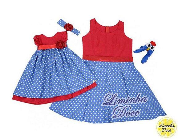 Vestido Galinha Pintadinha - Tal Mãe Tal Filha