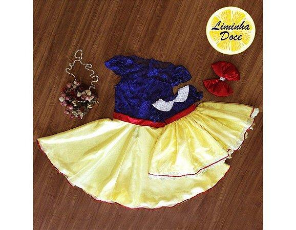 Vestido de Luxo da Branca de Neve - Mãe e Filha