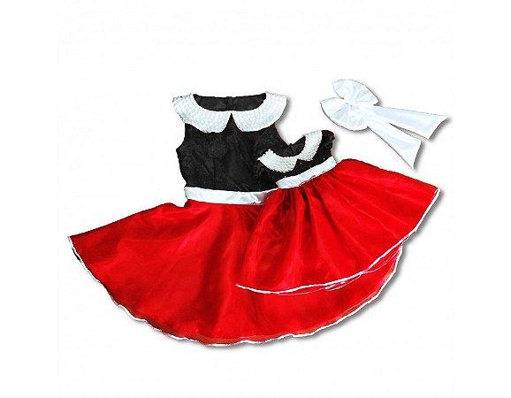 Vestido Festa da Minnie - Mãe e Filha