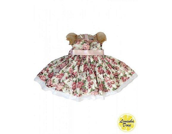 Vestido de Festa Floral Rose - Infantil