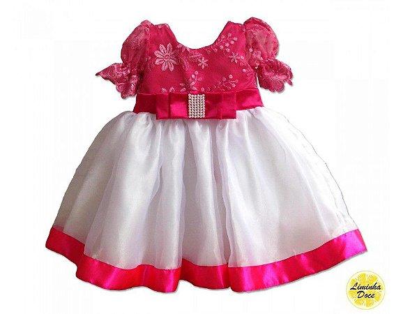 Vestido de Festa Rosa Pink - Infantil