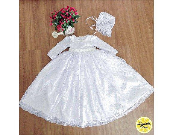 Vestido Mandrião Batizado Tradicional - Infantil