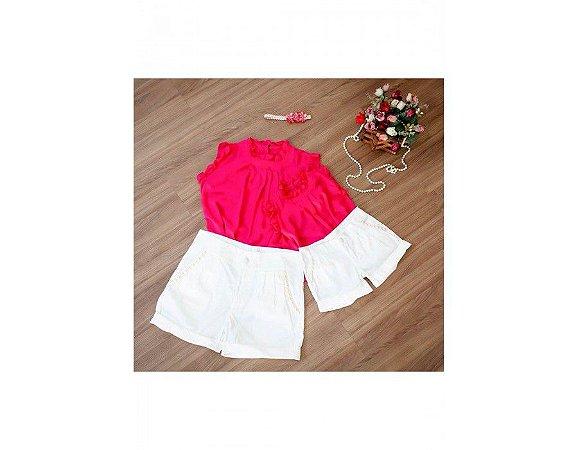 Conjunto Shorts e Blusa Pink - Mãe e Filha