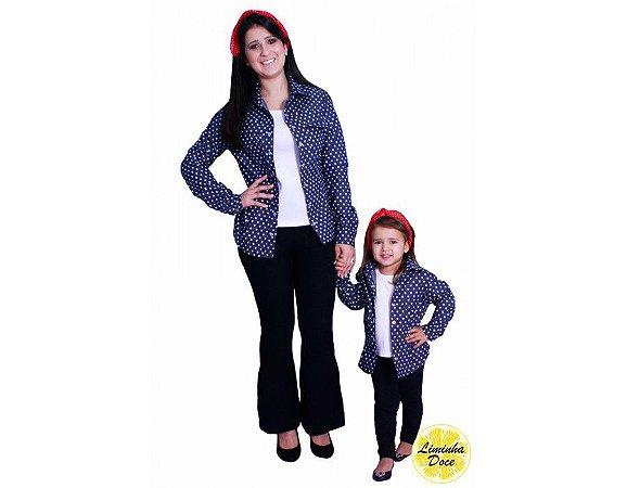 Camisa Jeans Escura - Tal Mãe Tal Filha