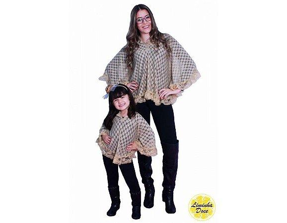 Bata de Renda Dourada - Tal Mãe Tal Filha