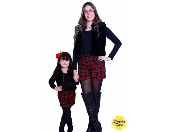 Conjunto Colete e Shorts - Tal Mãe Tal Filha