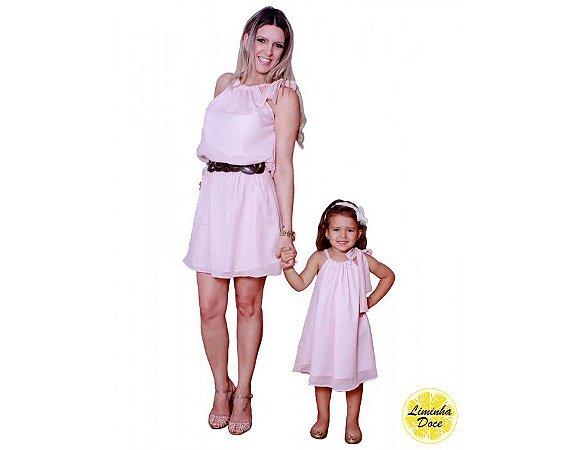 Vestido Social Rosa Claro - Tal Mãe Tal Filha