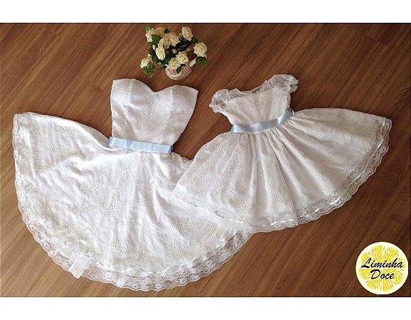 Vestido de Festa Branco - Tal Mãe Tal Filha