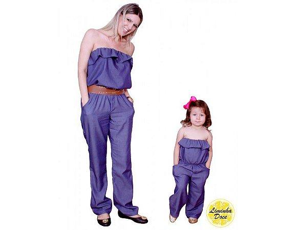 Macacão Jeans Tomara que Caia - Tal Mãe Tal Filha