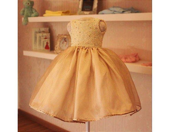 Vestido para Daminhas Bordado em Perolas - Infantil