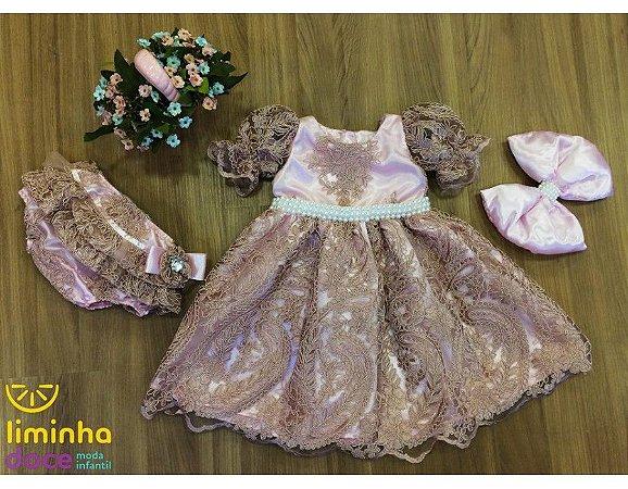 Vestido de Luxo para Bebe - Infantil