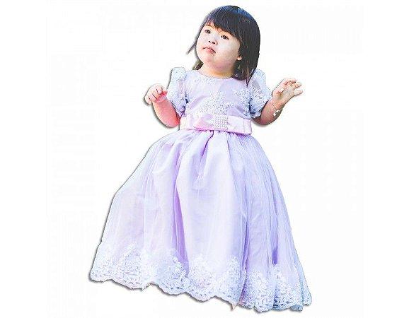 Vestido de Daminha Rosa Claro - Infantil