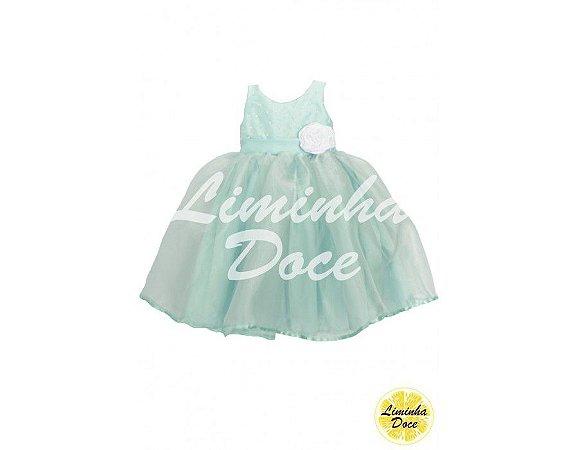 Vestido de Daminha Azul Tiffany - Infantil