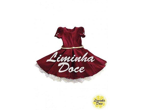 Vestido de Daminha Vinho - Infantil