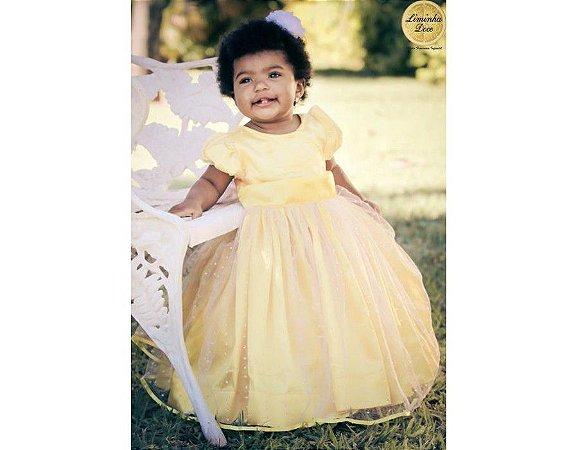 Vestido Amarelo para Daminha - Infantil