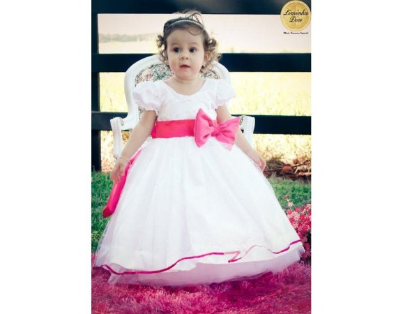 Vestido Branco de Daminha - Infantil