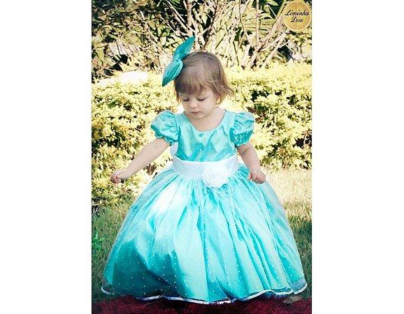 Vestido de Daminha Verde Tiffany - Infantil