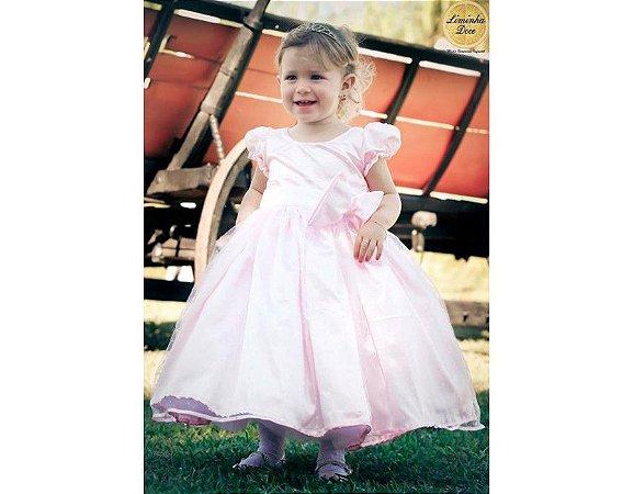 Vestido de Princesinha Rosa Bebê - Infantil