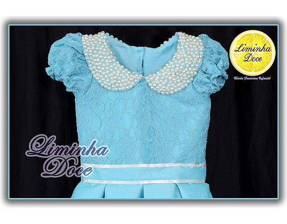 Vestido Delicado Azul - Infantil