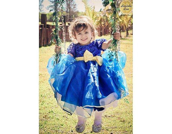 Vestido Azul para Daminha - Infantil