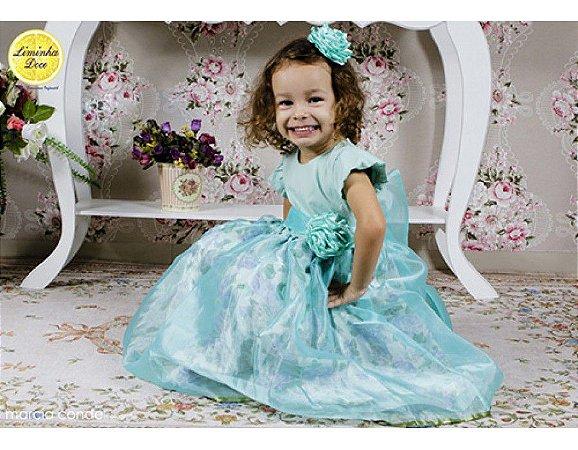 Vestido de Princesa Azul - Infantil