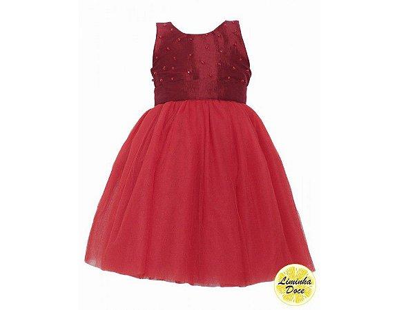 Vestido Vinho de Dama de Honra - Infantil