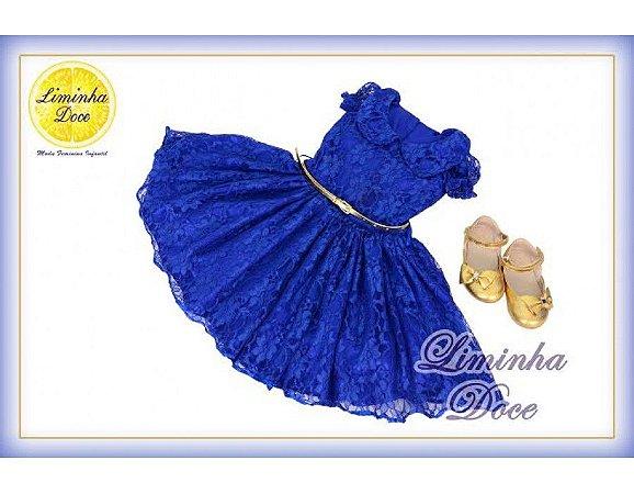 Vestido de Renda Azul - Infantil