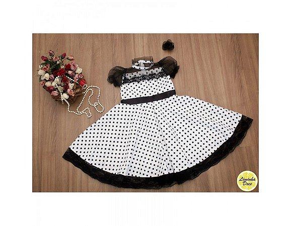Vestido de Bolinha Anos 60 - Infantil
