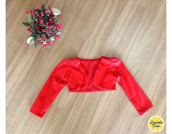 Bolero Vermelho - Infantil