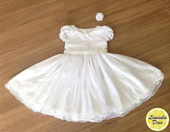 Vestido de Batizado Tradicional - Infantil