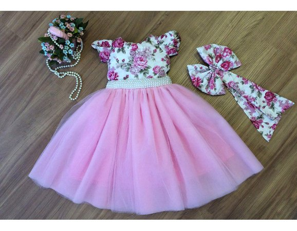 Vestido do Tema Jardim - Infantil
