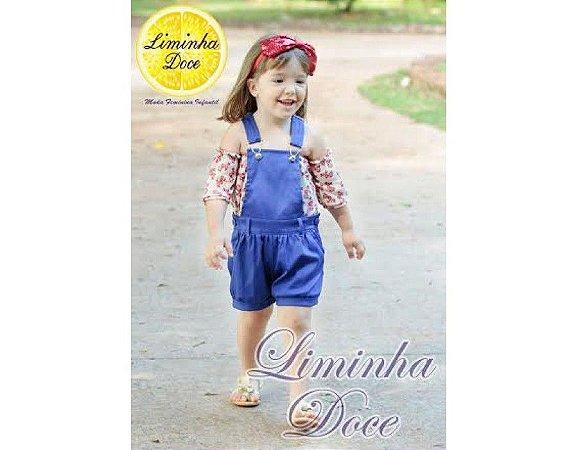 Conjunto de Jardineira Azul - Infantil