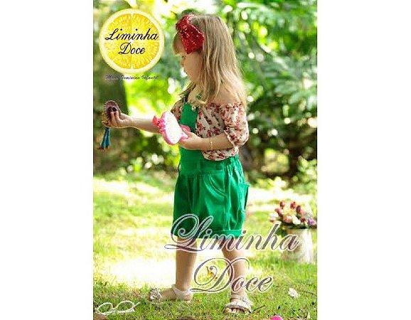 Conjunto de Jardineira Verde - Infantil