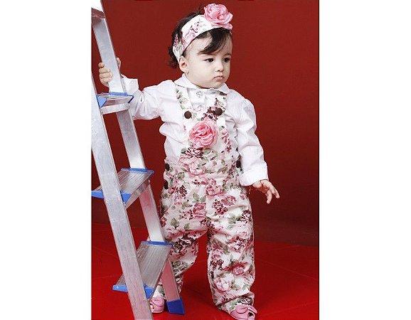 Macacão Floral com Camisa - Infantil