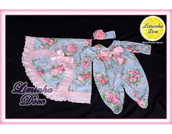 Saída de Maternidade Floral Rosa - Bebês