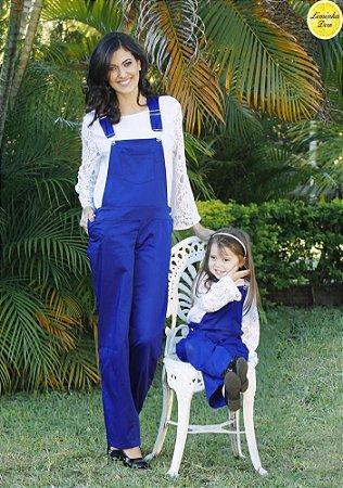 Conjunto Blusinha e Macacão Azul - Tal Mãe Tal Filha