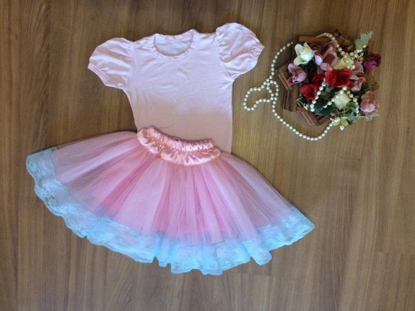 Conjunto de Body Rosa para Bailarina - Infantil