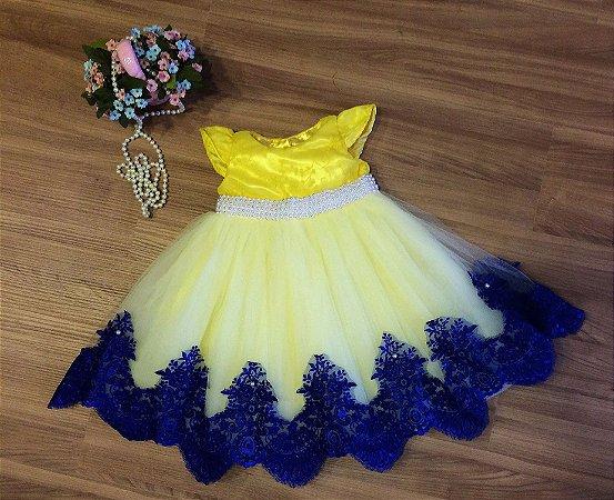 Vestido de Festa Amarelo - Infantil