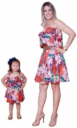 Vestido Ciganinha Floral - Mãe e Filha