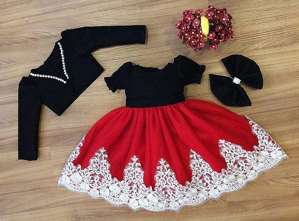 Vestido de Tule Vermelho - Infantil