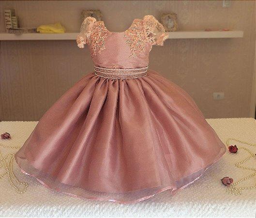 Vestido Rosê para Miss - Infantil