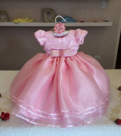 Vestido Rosa para Princesa - Infantil