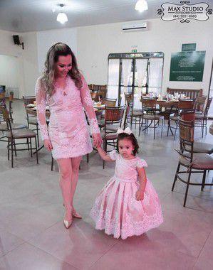 Vestido Tema Cinderela - Mãe e Filha