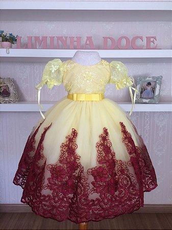 Vestido Luxoso da Bela e a Fera - Infantil
