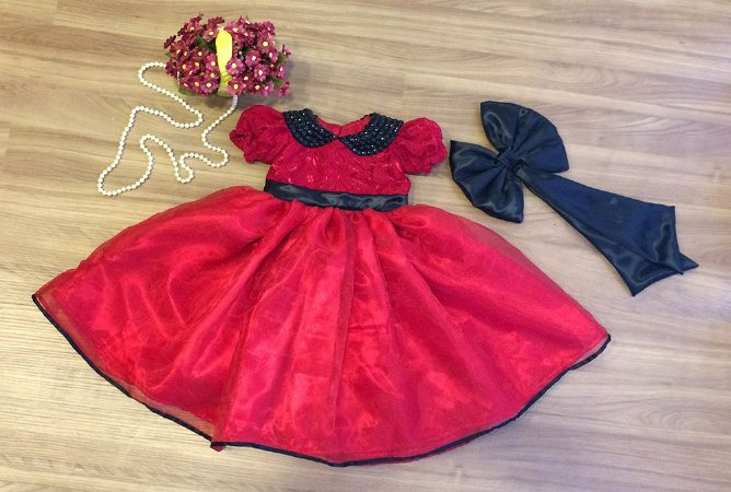 Vestido Tema da Ladybug - Infantil