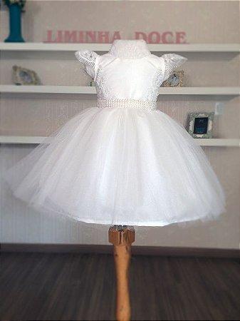 Vestido de Daminha Branco  - Infantil