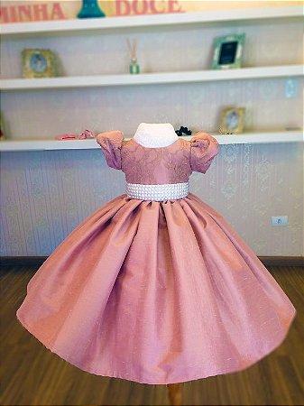 Vestido de Tafetá Rose - Infantil