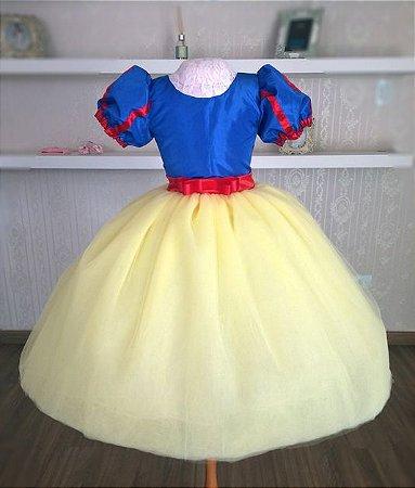Vestido Para o Tema Branca de Neve Realeza - Infantil