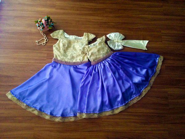 Vestido De Festa Na Cor Lilás - Tal Mãe Tal Filha